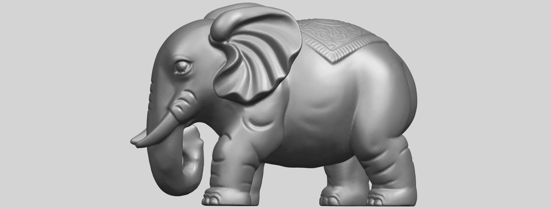 Elephant_03_-122mmA04.png Télécharger fichier STL gratuit Éléphant 03 • Modèle imprimable en 3D, GeorgesNikkei
