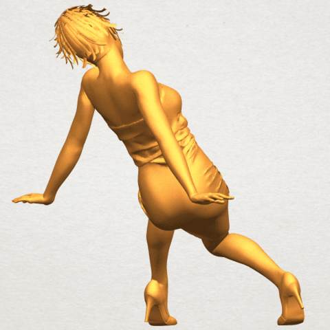 A07.png Download free STL file Naked Girl G10 • 3D printable template, GeorgesNikkei