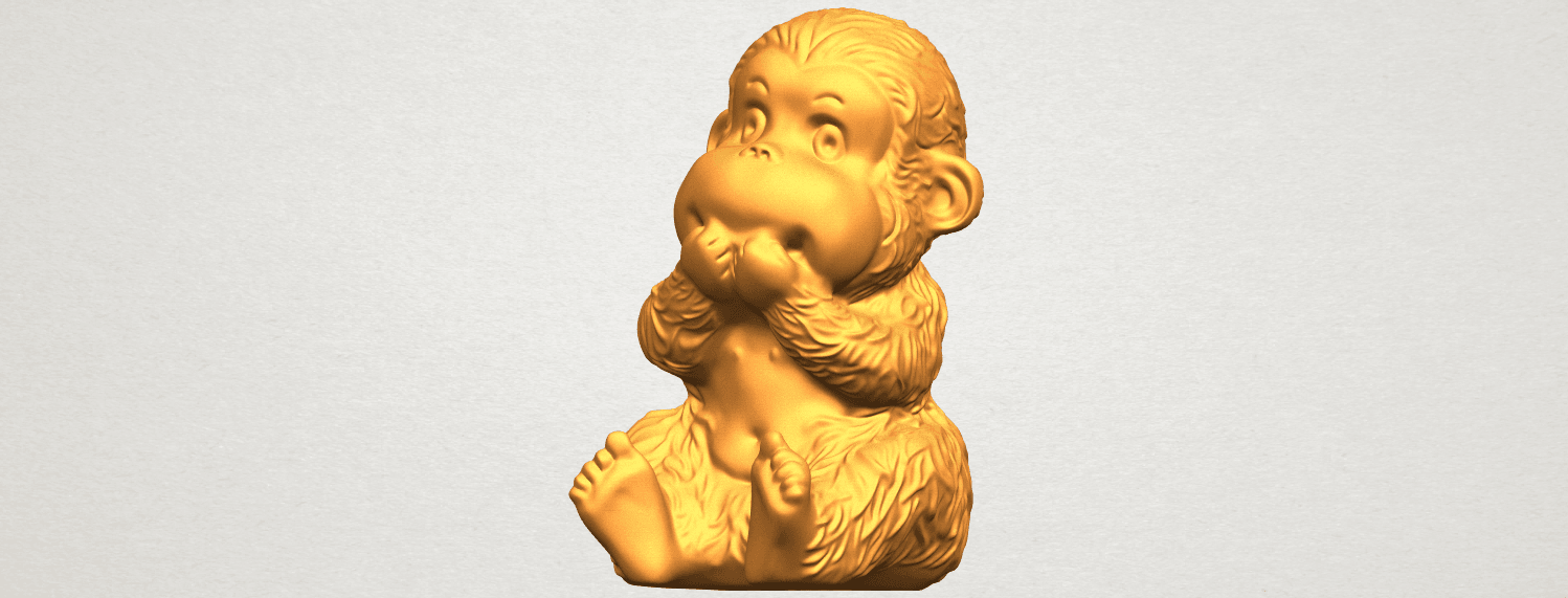 A02.png Download free STL file Monkey A04 • Model to 3D print, GeorgesNikkei