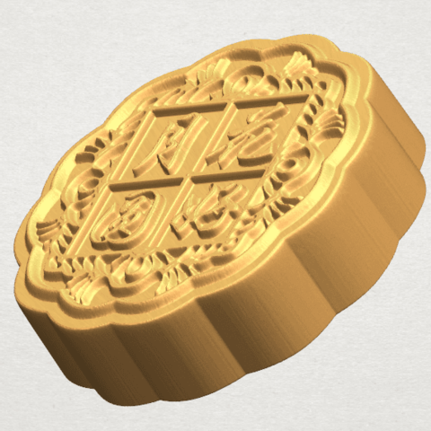 TDA0506 Moon Cake 02 A03.png Download free STL file Moon Cake 02 • 3D printable model, GeorgesNikkei