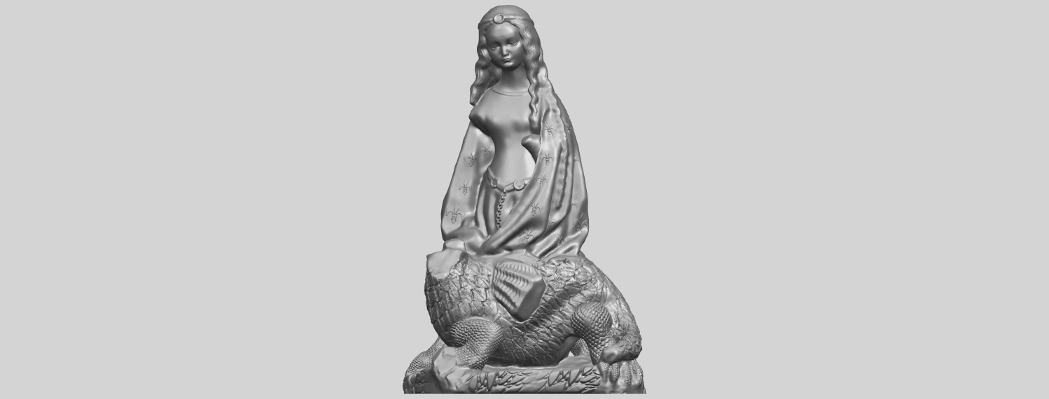 St Margaret 88mmA01.png Download free STL file Saint Margaret  • Template to 3D print, GeorgesNikkei