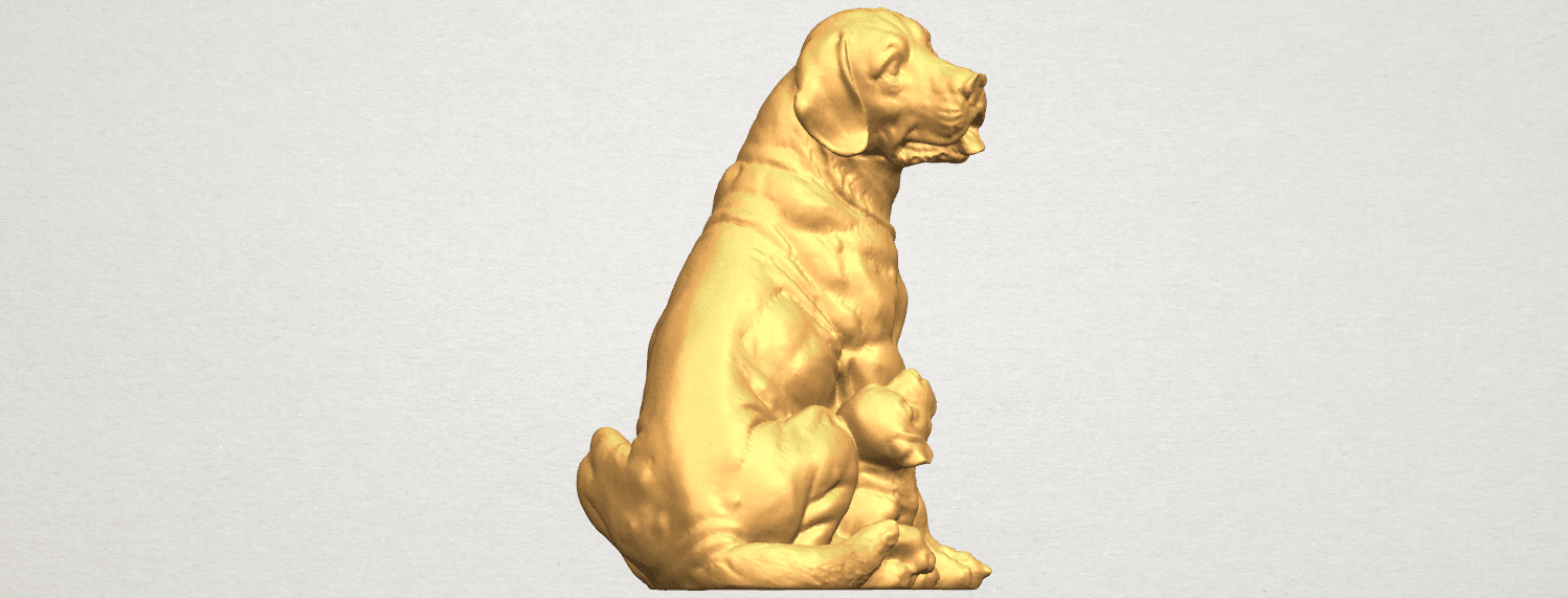 TDA0526 Dog and Puppy A01 ex500.png Download free STL file Dog and Puppy 01 • Model to 3D print, GeorgesNikkei