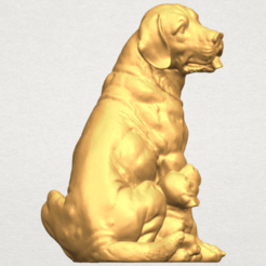Free 3d printer files Dog and Puppy 01, GeorgesNikkei
