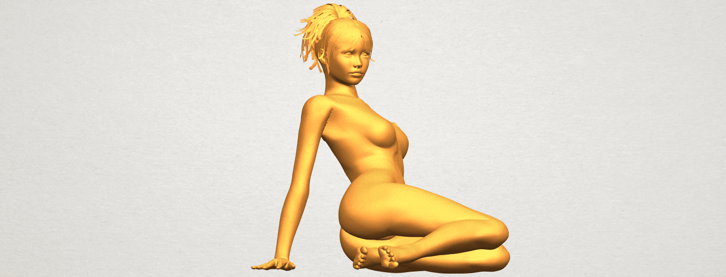 A10.png Download free STL file Naked Girl F01 • 3D printing template, GeorgesNikkei
