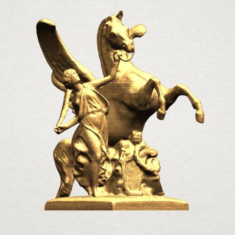 Horse (v) A05.png Télécharger fichier STL gratuit Cheval 05 • Plan pour impression 3D, GeorgesNikkei
