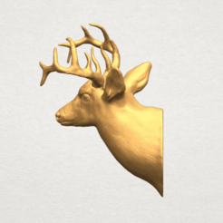 Download free 3D printer model Deer Head, GeorgesNikkei