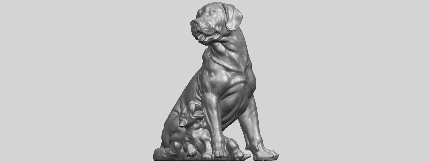 02_TDA0526_Dog_and_PuppyA04.png Download free STL file Dog and Puppy 01 • Model to 3D print, GeorgesNikkei