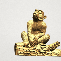 Download free 3D printing designs Chinese Horoscope 09 Monkey, GeorgesNikkei