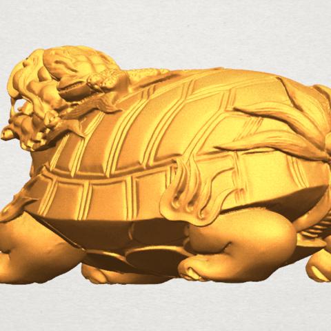 TDA0333 Dragon  Tortoise A02.png Download free STL file Dragon  Tortoise • Model to 3D print, GeorgesNikkei