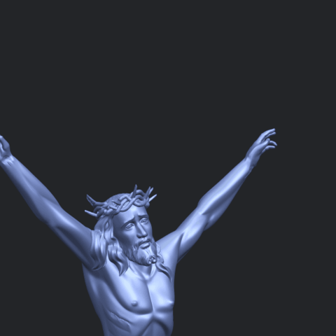 05_TDA0231_Jesus_(ii)_88mmA10.png Download free STL file Jesus 02 • 3D printing template, GeorgesNikkei