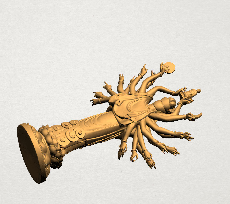 Avalokitesvara Bodhisattva (multi hand) 80mm -A04.png Download free STL file Avalokitesvara Bodhisattva (multi hand) (i) • 3D print object, GeorgesNikkei