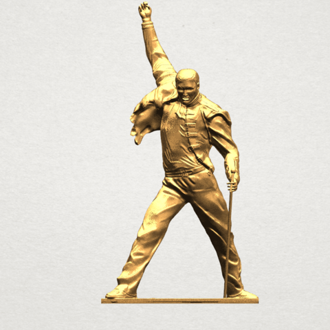 Statue of Freddie Mercury A01.png Download free STL file Statue of Freddie Mercury • 3D printable template, GeorgesNikkei