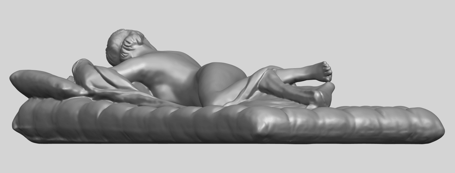 01_Naked_Body_Lying_on_Bed_ii_31mmA08.png Download free STL file Naked Girl - Lying on Bed 02 • Object to 3D print, GeorgesNikkei
