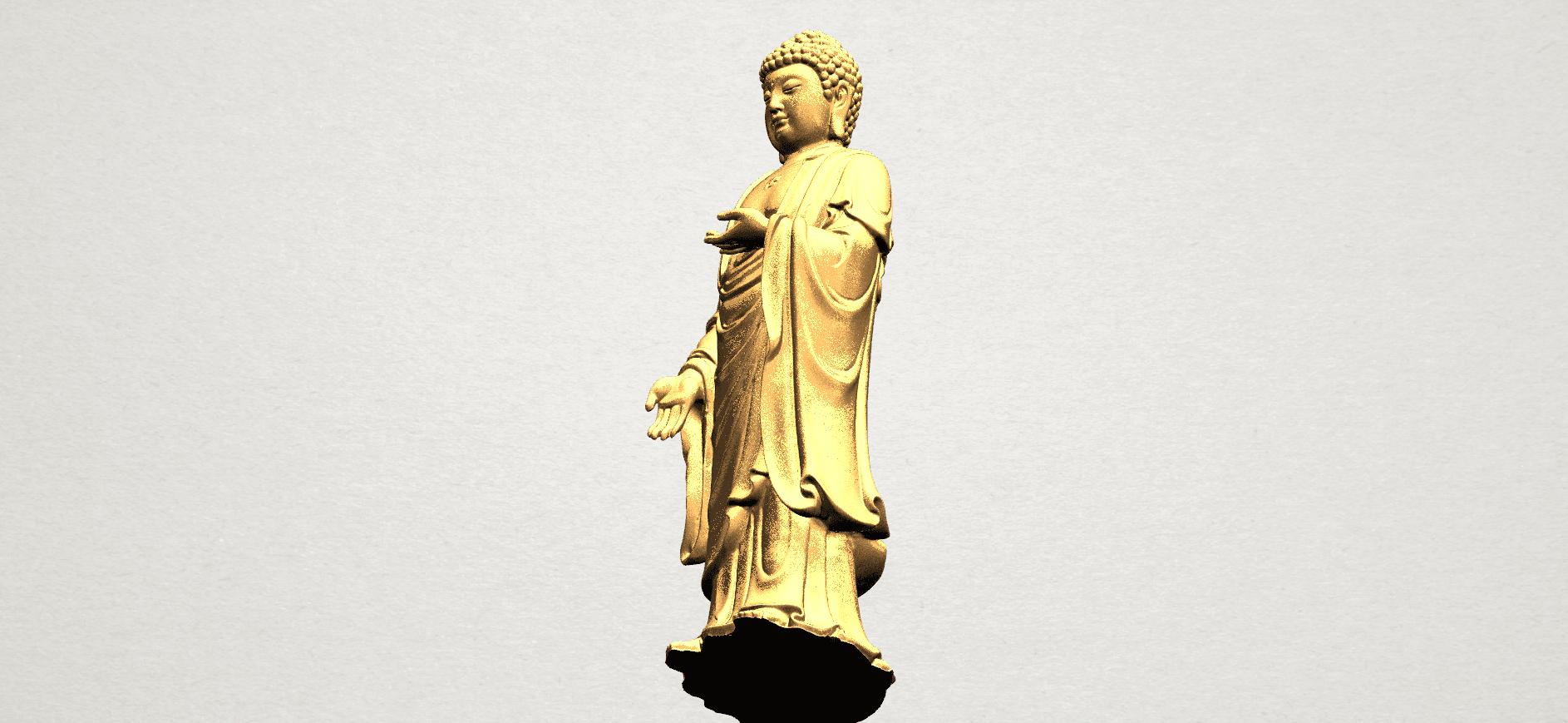 Gautama Buddha (stand)-80mm-B08.png Télécharger fichier STL gratuit Gautama Bouddha - Debout 01 • Plan pour impression 3D, GeorgesNikkei