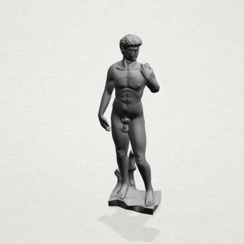 Michelangelo(i) -A01.png Download free STL file Michelangelo 01 • 3D printable template, GeorgesNikkei