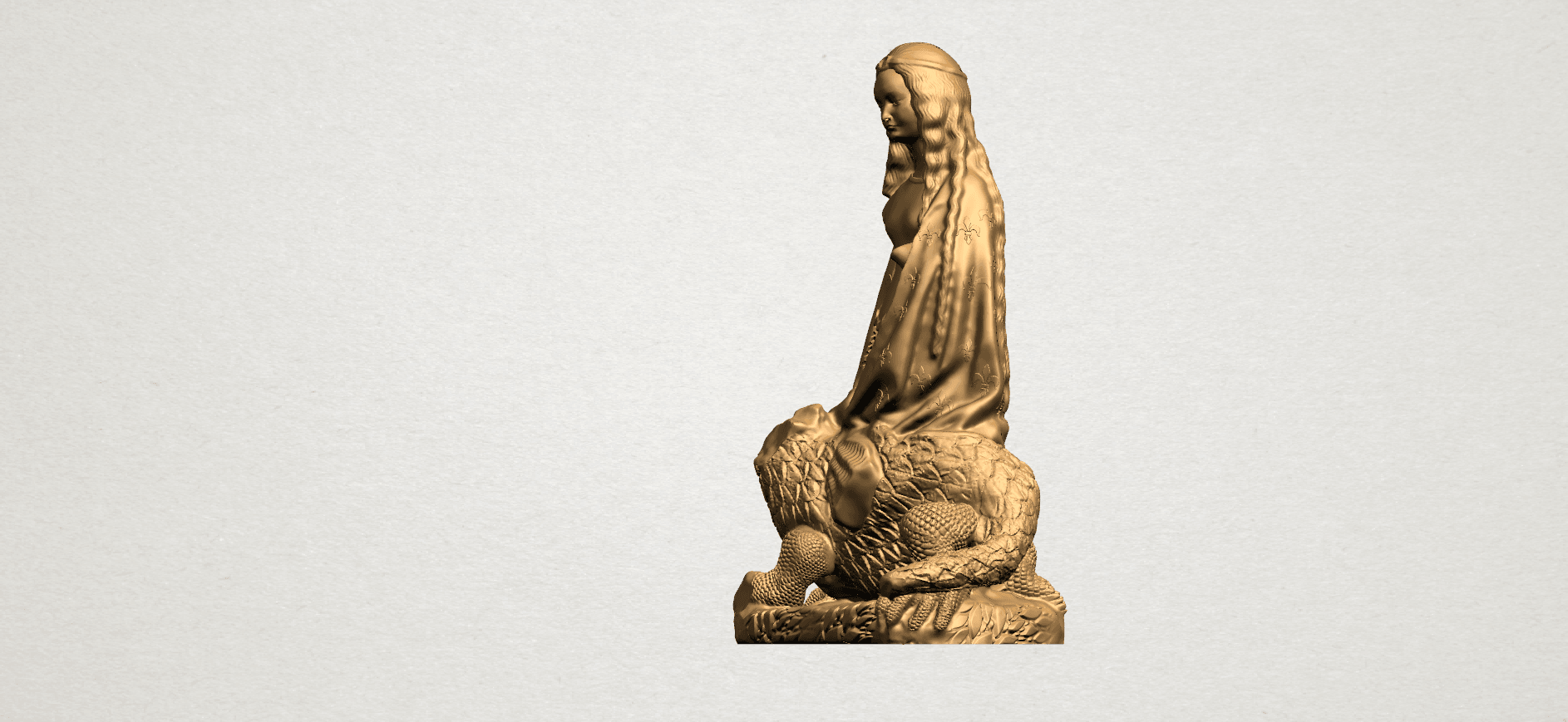 Saint Margaret A02.png Download free STL file Saint Margaret  • Template to 3D print, GeorgesNikkei