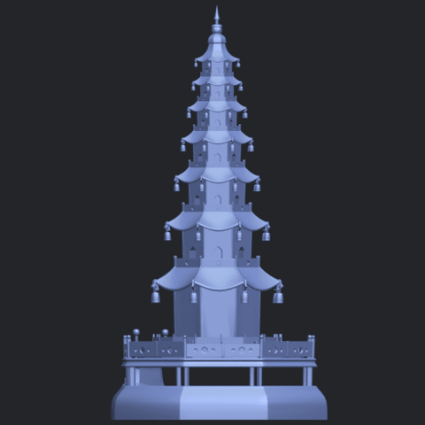 03_TDA0623_Chiness_pagodaB05.png Download free STL file Chiness pagoda • Design to 3D print, GeorgesNikkei