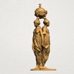 Download free 3D printing designs Sculpture of Three Grace 03, GeorgesNikkei