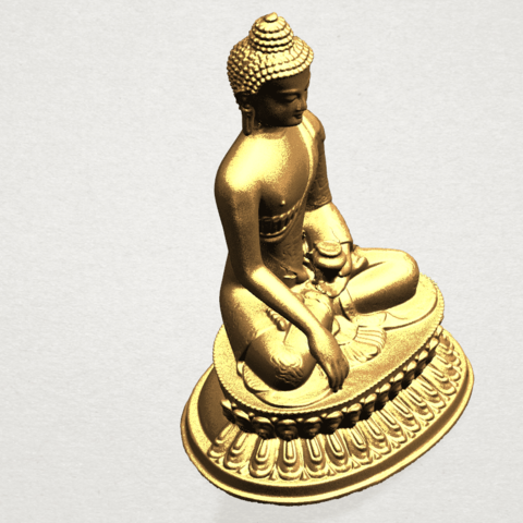 Thai Buddha (iii) A10.png Download free STL file Thai Buddha 03 • 3D printing object, GeorgesNikkei