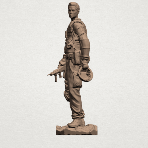 American Soldier A02.png Download free STL file American Soldier • Template to 3D print, GeorgesNikkei