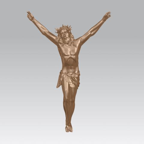 TDA0230 Jesus (ii) A02.png Download free STL file Jesus 02 • 3D printing template, GeorgesNikkei