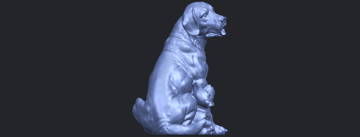 02_TDA0526_Dog_and_PuppyB01.png Download free STL file Dog and Puppy 01 • Model to 3D print, GeorgesNikkei