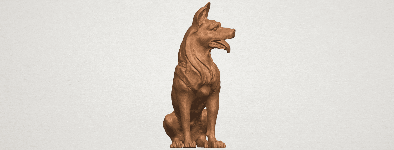TDA0307 Dog - Wolfhound A01.png Download free STL file Dog - Wolfhound • 3D printer model, GeorgesNikkei
