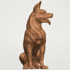 Download free 3D printer templates Dog - Wolfhound, GeorgesNikkei