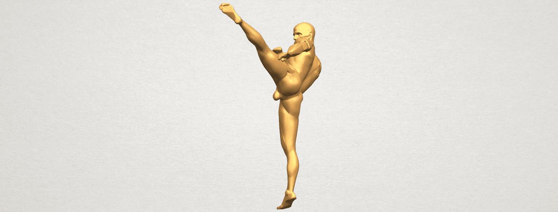 TDA0547 Man Kicking A03.png Télécharger fichier STL gratuit Man Kicking • Objet pour impression 3D, GeorgesNikkei