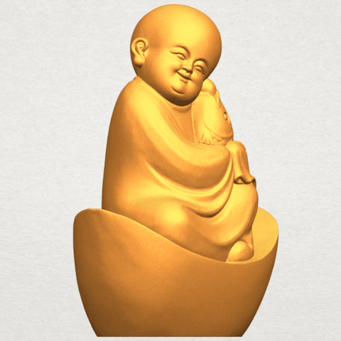 A10.png Download free STL file Little Monk 04 • 3D printer template, GeorgesNikkei