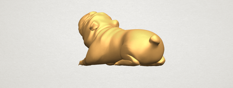 TDA0574 Bull Dog 07 A03.png Télécharger fichier STL gratuit Chien de taureau 07 • Objet imprimable en 3D, GeorgesNikkei