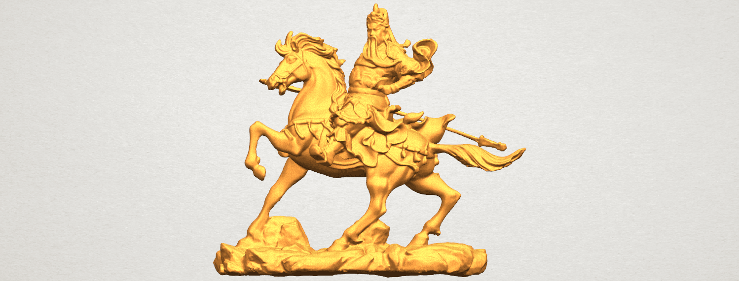 TDA0331 Guan Gong (iv) A01.png Download free STL file Guan Gong 04 • Template to 3D print, GeorgesNikkei