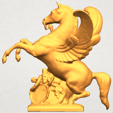 Download free 3D printing models Horse 07 Pegasus02, GeorgesNikkei