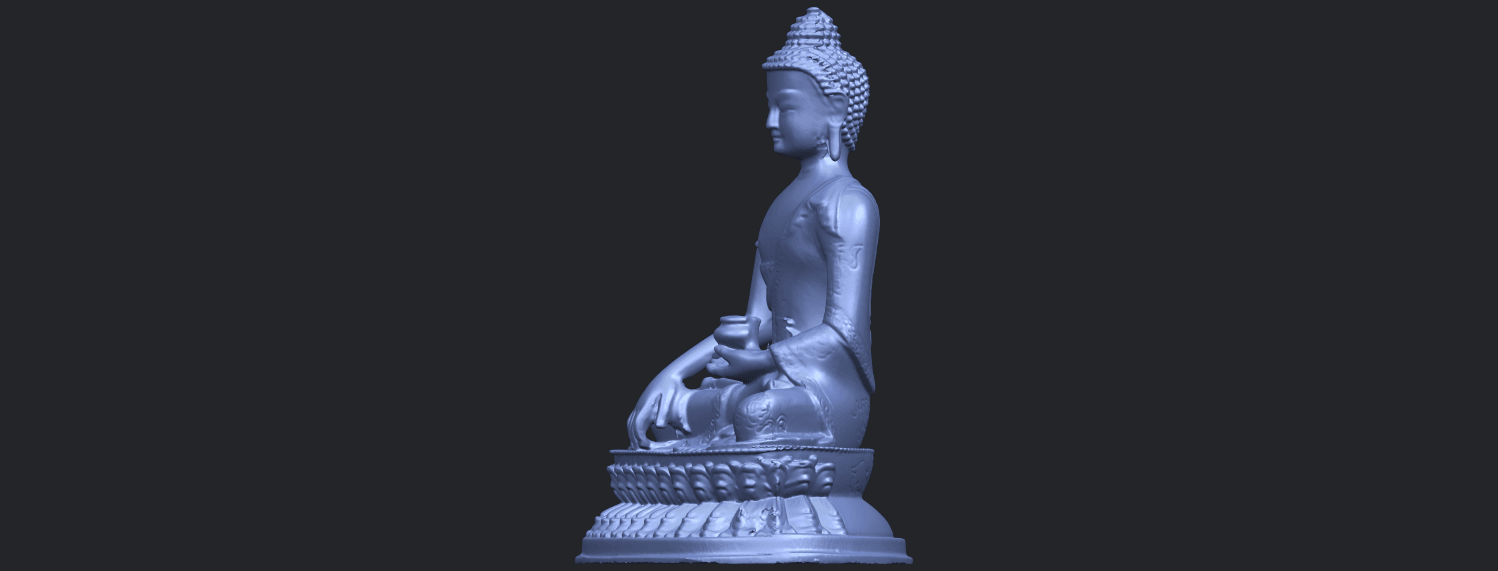 15_TDA0173_Thai_Buddha_(iii)_88mmB03.png Download free STL file Thai Buddha 03 • 3D printing object, GeorgesNikkei