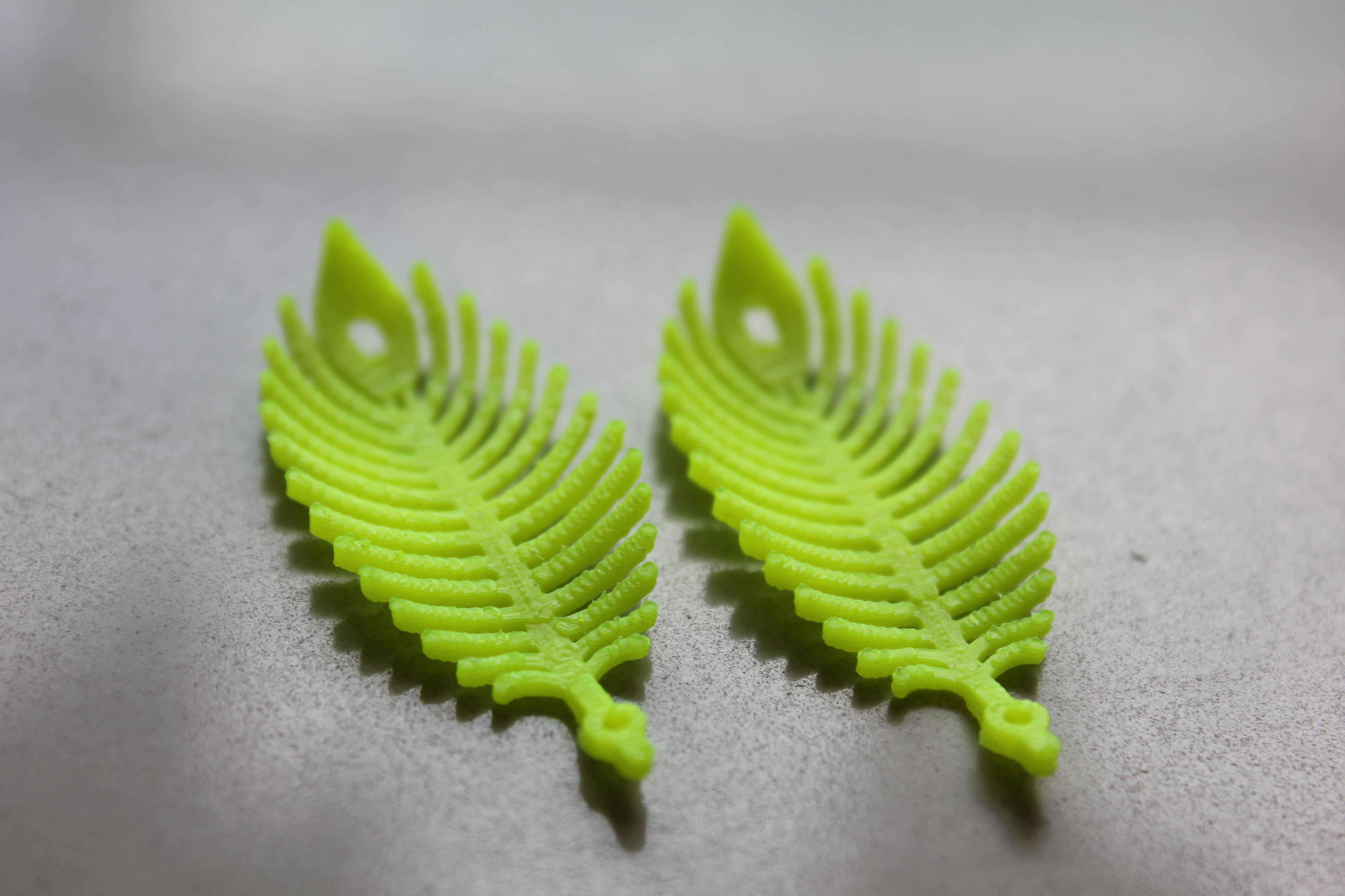 0001.jpg Download free STL file Earing -Leaf • 3D printer template, GeorgesNikkei