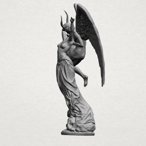 Angel and devil - A05.png Download free 3DS file Angel and devil • 3D print template, GeorgesNikkei