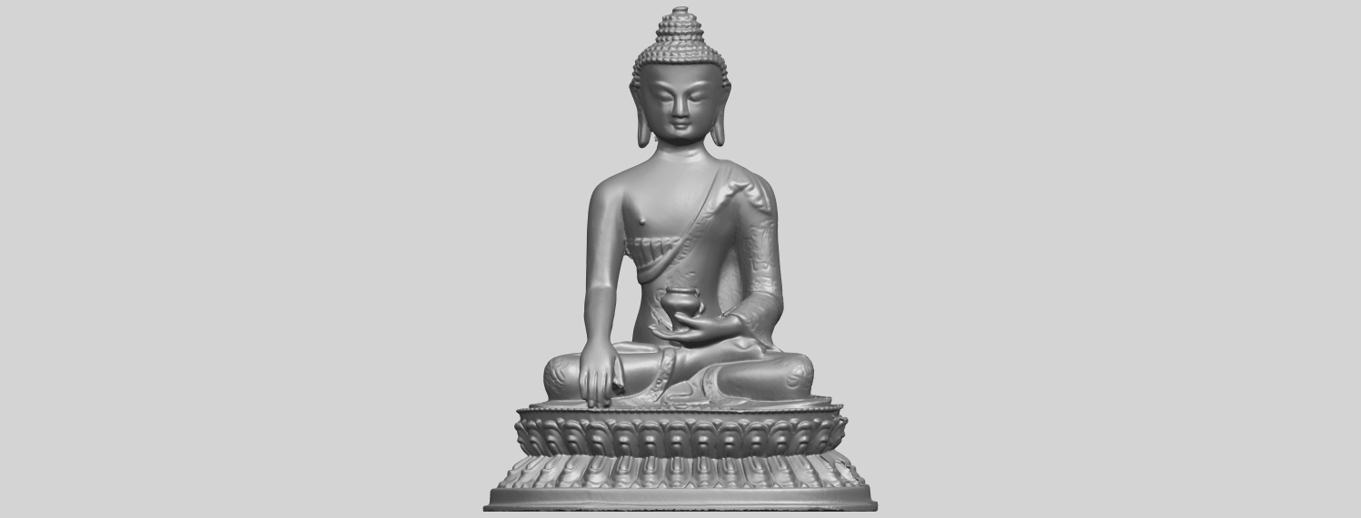 15_TDA0173_Thai_Buddha_(iii)_88mmA01.png Download free STL file Thai Buddha 03 • 3D printing object, GeorgesNikkei