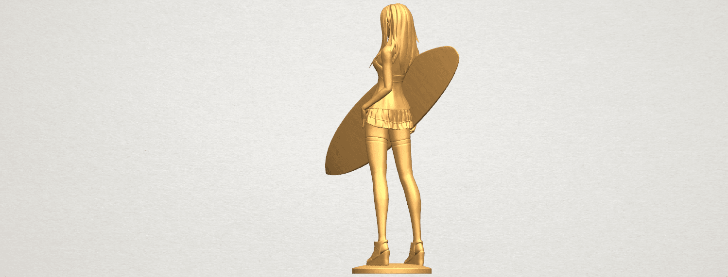 TDA0590 Girl surfing board 02 A05.png Download free STL file Girl surfing board 02 • 3D printable object, GeorgesNikkei