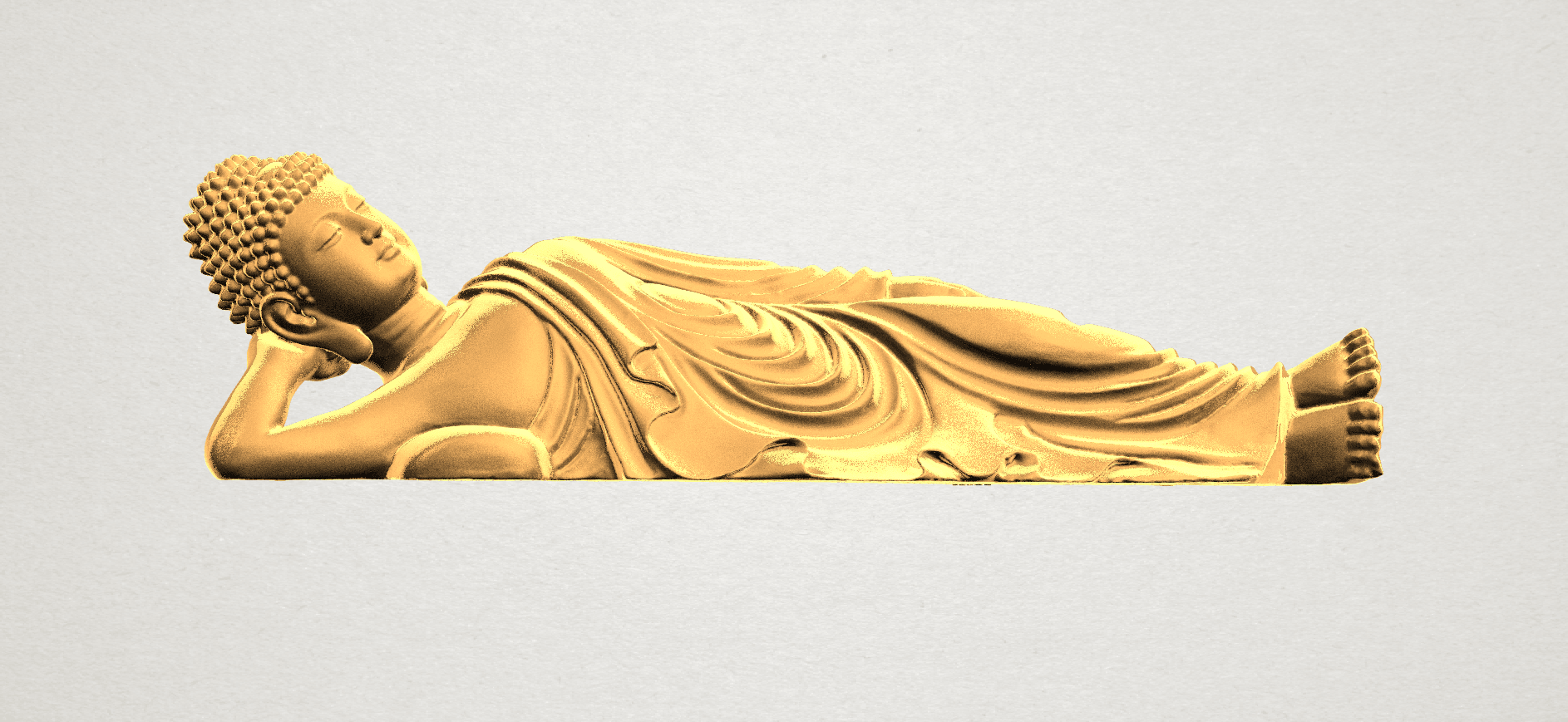 Sleeping Buddha (ii) A01.png Download free STL file Sleeping Buddha 02 • Design to 3D print, GeorgesNikkei