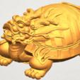 TDA0333 Dragon  Tortoise A08.png Download free STL file Dragon  Tortoise • Model to 3D print, GeorgesNikkei