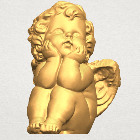TDA0481 Angel Baby 04 A01.png Download free STL file Angel Baby 04 • 3D printable template, GeorgesNikkei