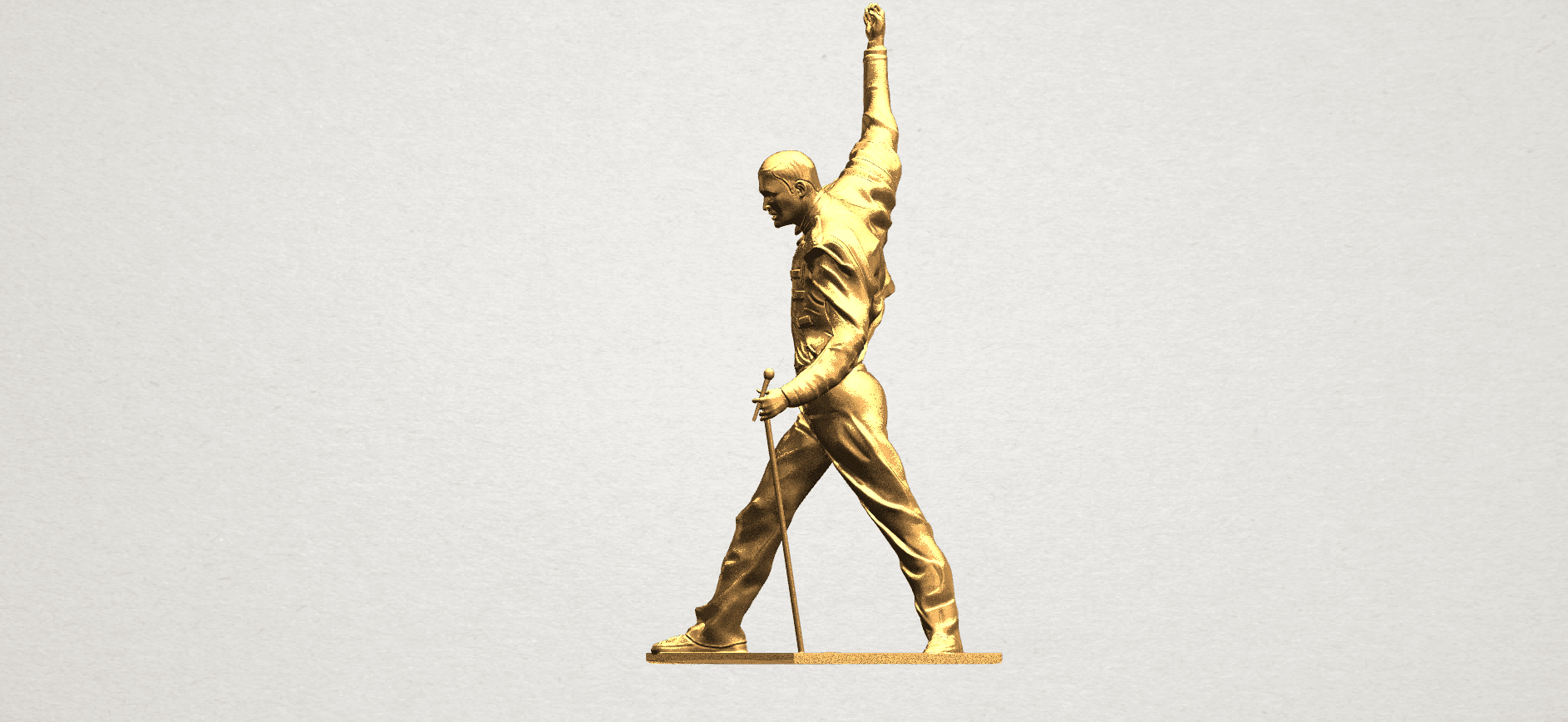 Statue of Freddie Mercury A03.png Download free STL file Statue of Freddie Mercury • 3D printable template, GeorgesNikkei