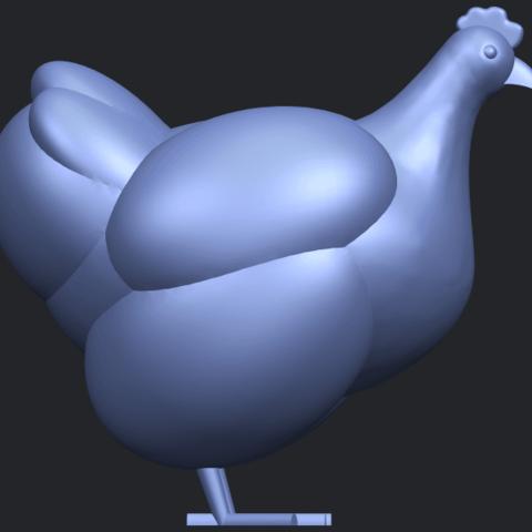 17_TDA0484_HenB09.png Télécharger fichier STL gratuit Poule • Design pour imprimante 3D, GeorgesNikkei
