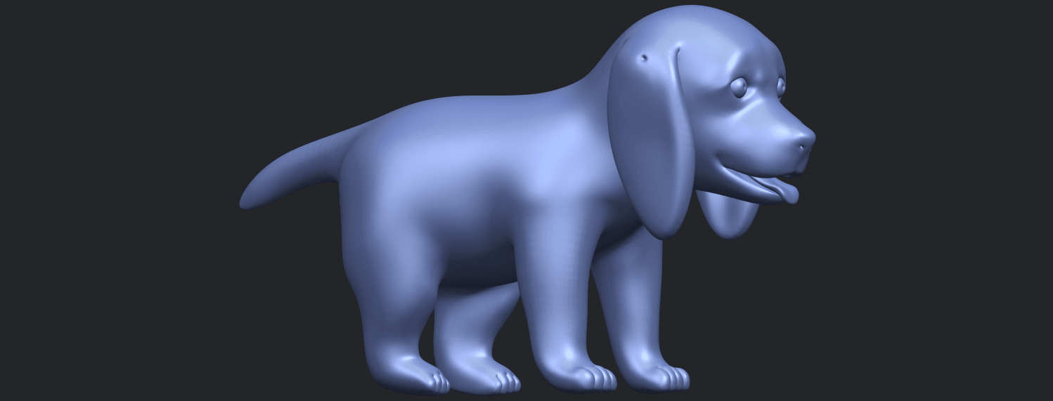 15_TDA0533_Puppy_01B02.png Download free STL file Puppy 01 • 3D printer template, GeorgesNikkei