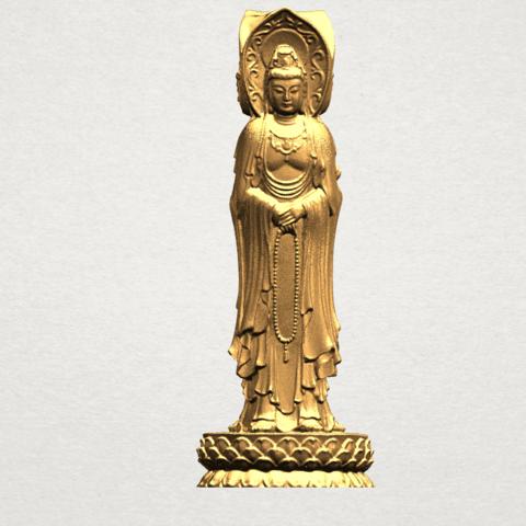 Avalokitesvara Buddha (with Lotus Leave) (i) A07.png Download free STL file Avalokitesvara Buddha (with Lotus Leave) 01 • 3D printable model, GeorgesNikkei