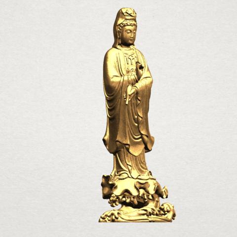 Avalokitesvara Buddha - Standing (v) A09.png Download free STL file Avalokitesvara Buddha - Standing 05 • 3D printer template, GeorgesNikkei