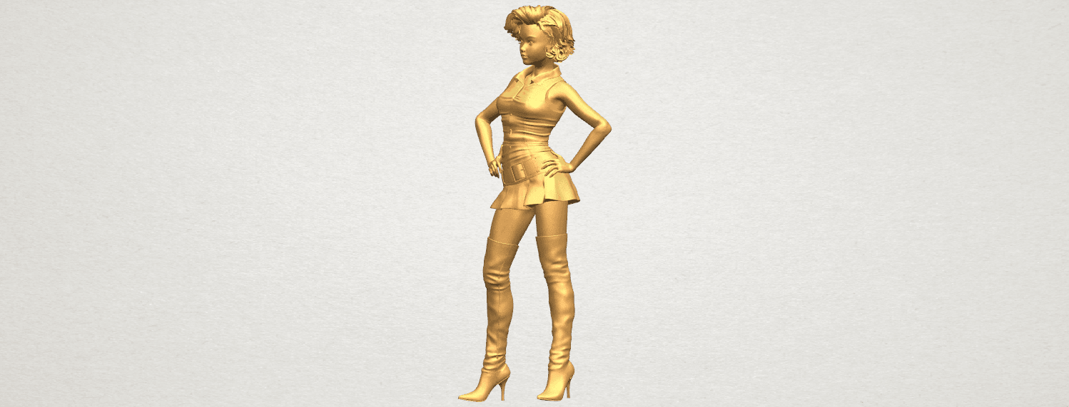 TDA0473 Beautiful Girl 07 A02.png Télécharger fichier STL gratuit Belle Fille 07 • Design à imprimer en 3D, GeorgesNikkei