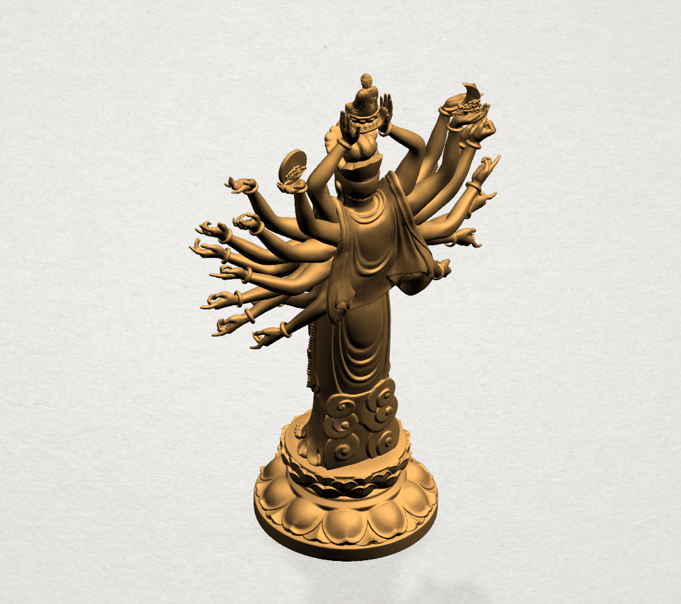 Avalokitesvara Bodhisattva (multi hand) 80mm -A03.png Download free STL file Avalokitesvara Bodhisattva (multi hand) (i) • 3D print object, GeorgesNikkei