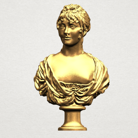 Bust of a girl 01 A01.png Download free STL file Bust of a girl 01 • Object to 3D print, GeorgesNikkei