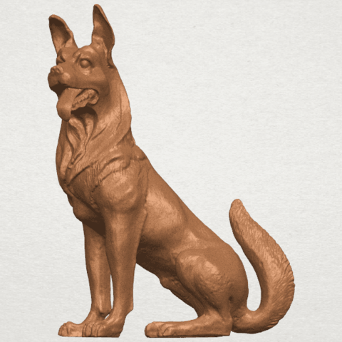 TDA0307 Dog - Wolfhound A03.png Download free STL file Dog - Wolfhound • 3D printer model, GeorgesNikkei